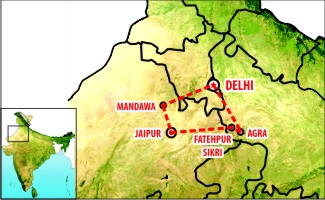 Golden triangle Tour Map