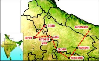 Nepal tour Map