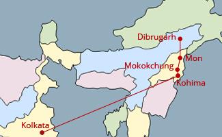 Hornbill Festival Tour Map