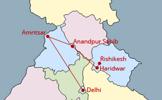 Hola mohalla ganges Tour Map
