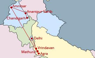 Holi & hola mohalla Tour Map