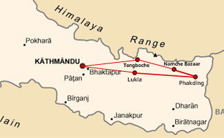 Nepal Mani Rimdu Tour Map